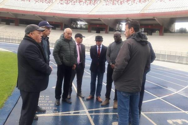 CAA officials on a site visit to 5 July Stadium in Algiers (CAA)