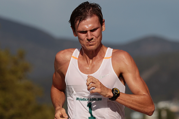 Australia's Dane Bird-Smith in action in the 20km race walk (Getty Images)