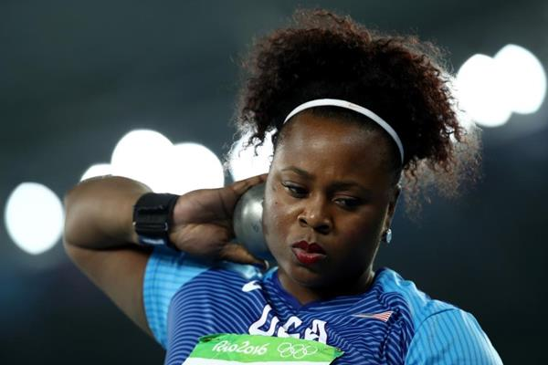 Michelle Carter in the shot put at the Rio 2016 Olympic Games (Getty Images)