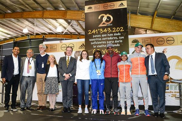 At the Bogota Half Marathon pre-race press conference, ahead of its 20th edition (Organisers)
