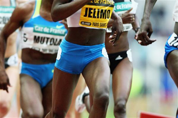 Pamela Jelimo in the women's 800m before stretching away to win (Getty Images)