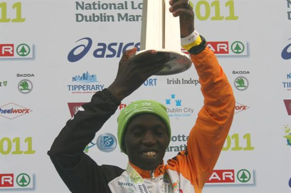 Geoffrey Ndungu after his course record in Dublin (Cóilín Duffy)