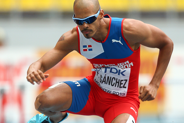 Felix Sanchez in the 400m hurdles at the IAAF World Championships Moscow 2013 (Getty Images)