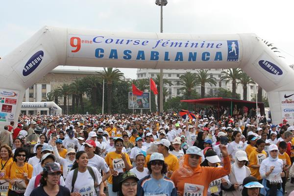Runners in the Course Féminine 10km in Casablanca (Organisers)