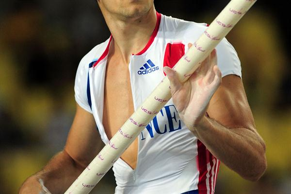Renaud Lavillenie of France competes in the men's pole vault final  (Getty Images)