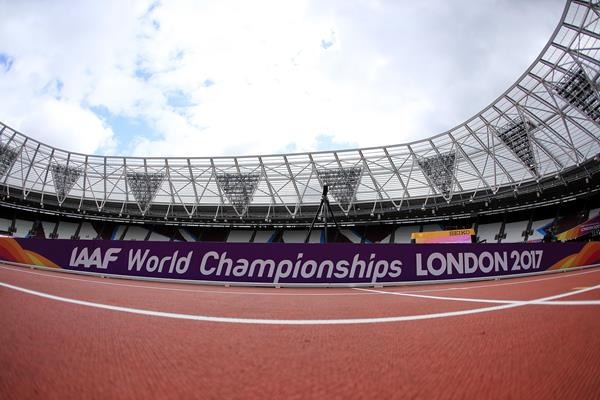 London Stadium track on the eve of the IAAF World Championships London 2017 (Getty Images)