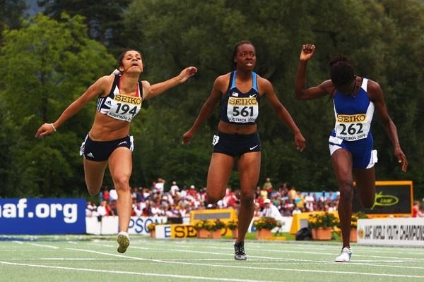 Jodie Williams of Britain wins the 200m final (Getty Images)