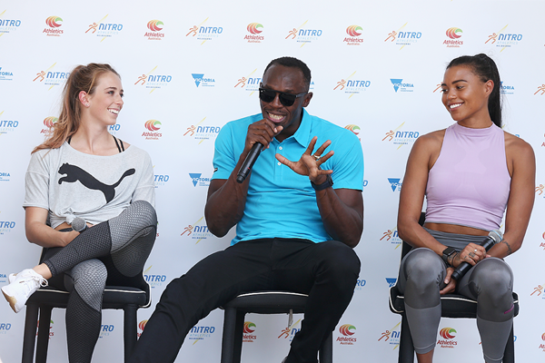Usain Bolt at the launch of Nitro Athletics in Melbourne (Getty Images)