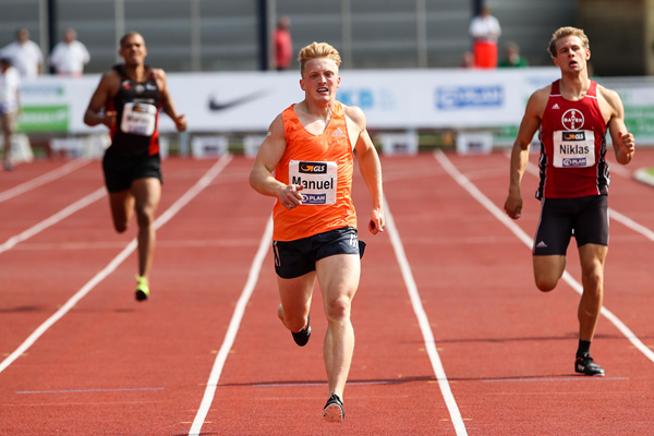 Manuel Eitel in the decathlon 400m in Ratingen (Gladys Chai von der Laage)