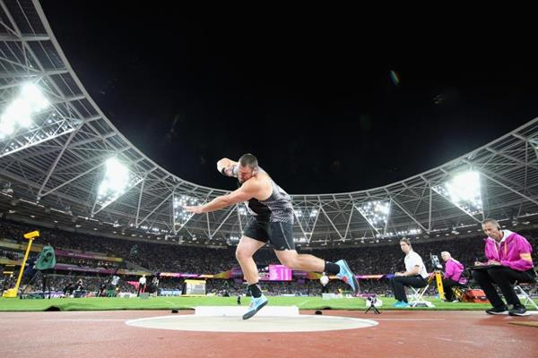 Tom Walsh in the shot put at the IAAF World Championships London 2017 (Getty Images)