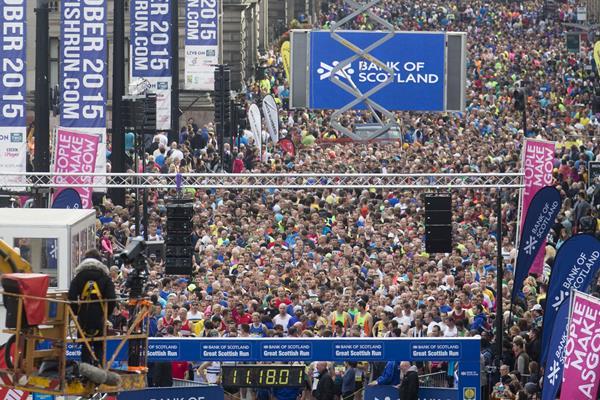 Runners in the 2015 Great Scottish Run (Organisers)