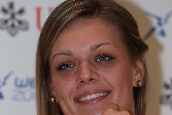 Sandra Perkovic ahead of the 2014 IAAF Diamond League final in Zurich (Jean-Pierre Durand)