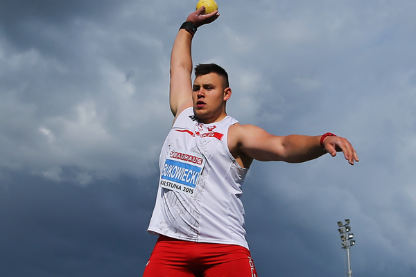 Shot put winner Konrad Bukowiecki at the European Junior Championships (Getty Images)