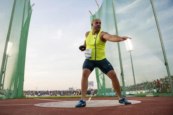 Piotr Malachowski at the 2014 IAAF Diamond League in Doha (Deca Text & Bild)