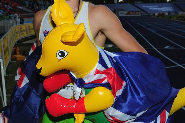 Jake Stein after winning the 2011 World Youth Octathlon title (Getty Images)
