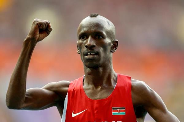 Kemboi in the mens 3000m SC at the IAAF World Athletics Championships Moscow 2013 (Getty Images)