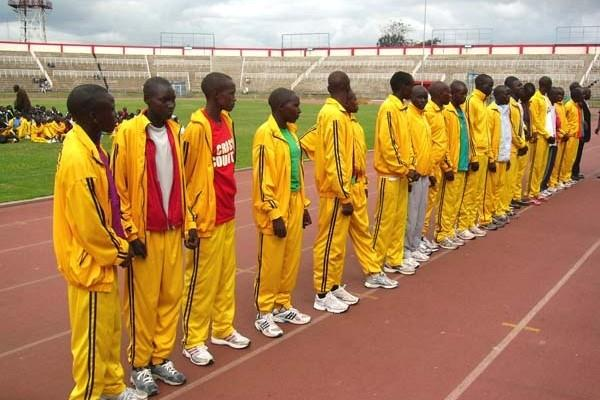 World Youth Championships team together after Kenyan trials at the Nyayo stadium, Nairobi (David Macharia)