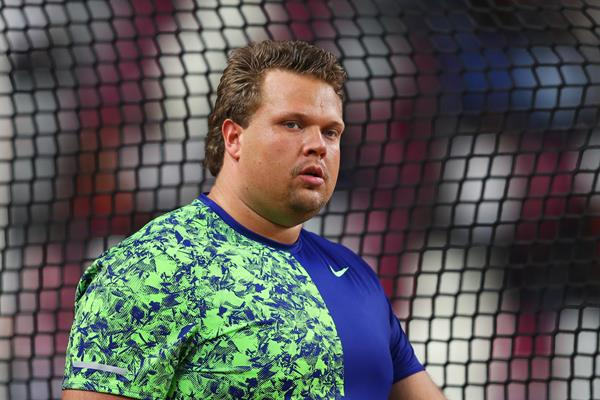 Daniel Stahl after winning the discus at the IAAF Diamond League meeting in Doha (Getty Images)