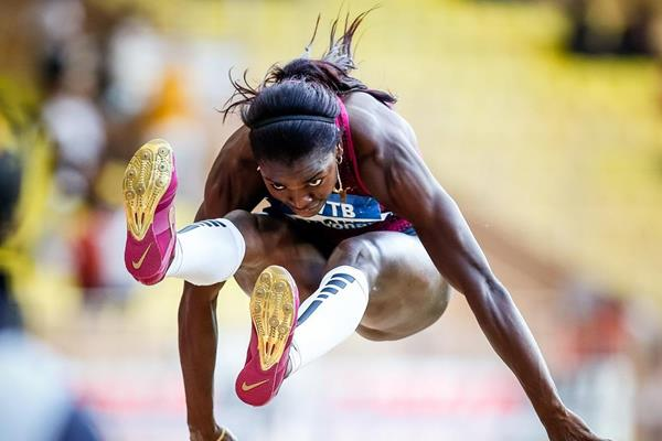 Caterine Ibarguen at the 2014 IAAF Diamond League meeting in Monaco (Philippe Fitte)
