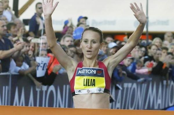 Lilia Fisikovici wins the Ceske Budejovice Half Marathon (Organisers)