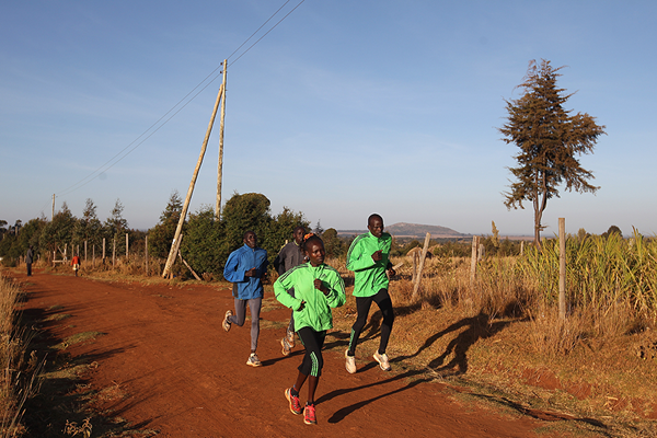 Kenyan distance runner Mary Keitany training in Iten (Getty Images)
