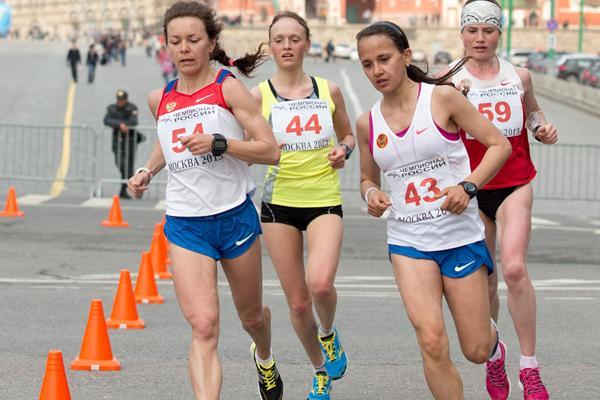 Test event for Marathon course - Moscow 2013: Russian Marathon Championships (Aleksandr Kiselev/LOC/www.sportfoto.ru)