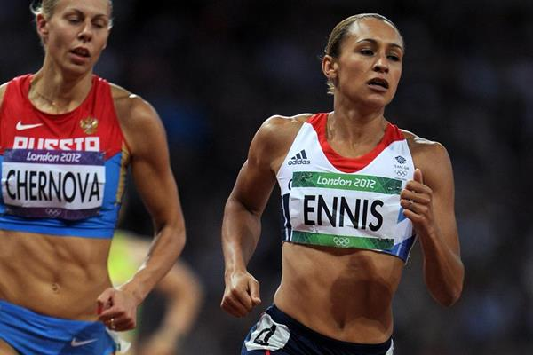 Jessica Ennis on her way to winning the heptathlon at the London 2012 Olympic Games (Getty Images)