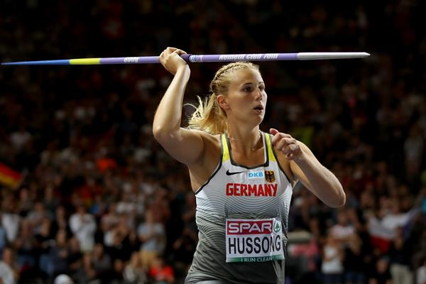 Javelin winner Christin Hussong at the European Championships (Getty Images)