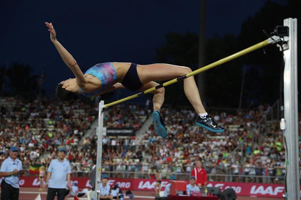 Maria Lasitskene tops a Diamond League record 2.06m in Lausanne (Giancarlo Colombo)