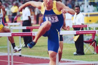 Liu Xiang wins Asian Championships in Colombo (Chua Chong Jin)