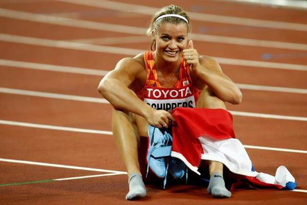 Dafne Schippers after her 200m victory at the IAAF World Championships London 2017 (Getty Images)