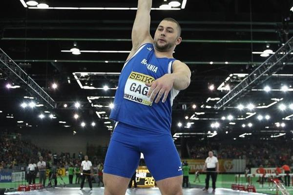 Andrei Gag in the shot put at the IAAF World Indoor Championships Portland 2016 (Getty Images)