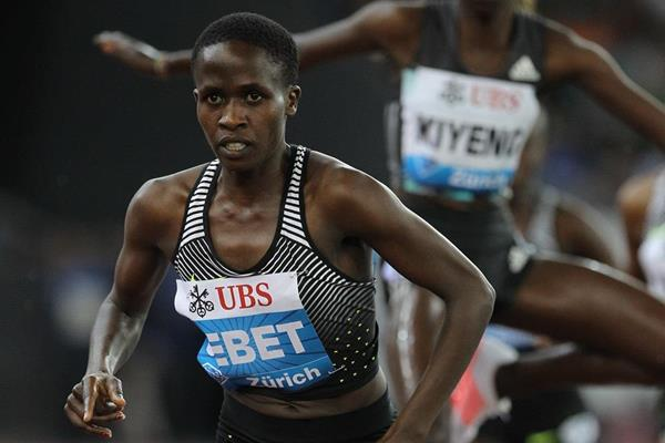 Ruth Jebet in the 3000m steeplechase at the IAAF Diamond League meeting in Zurich (Jean-Pierre Durand)