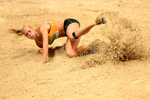 Nadine Broersen in the pentathlon long jump at the IAAF World Indoor Championships (AFP / Getty Images)