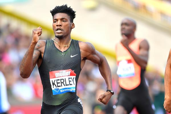 Birmingham 400m winner Fred Kerley (Jiro Mochizuki)