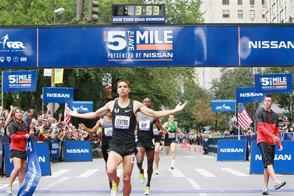 Matt Centrowitz winning the Fifth Avenue Mile (NYRR)