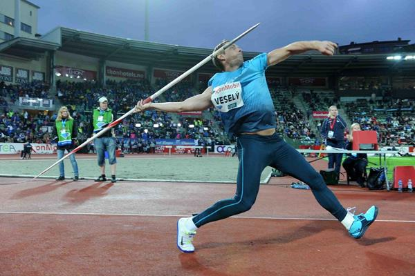 Vitezslav Vesely at the 2013 IAAF Diamond League meeting in Oslo (Jiro Mochizuki)