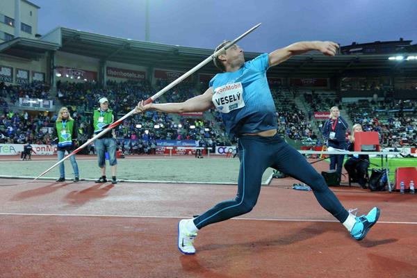 Vitezslav Vesely at the 2013 IAAF Diamond League meeting in Oslo (Jiro Mochizuki)