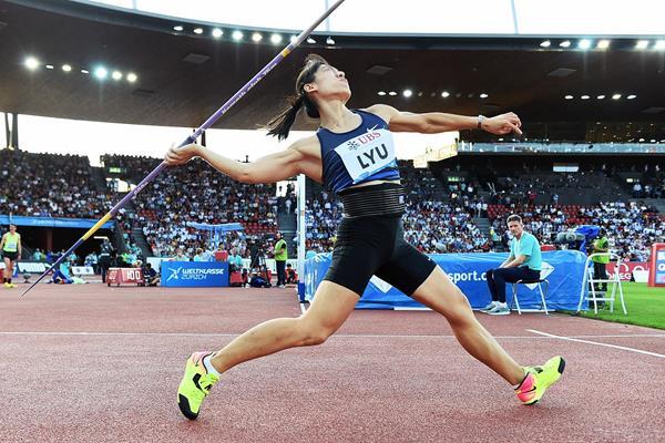 Lyu Huihui, winner of the javelin at the IAAF Diamond League final in Zurich (Jiro Mochizuki)