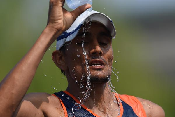 Indian race walker Sandeep Kumar (AFP / Getty Images)