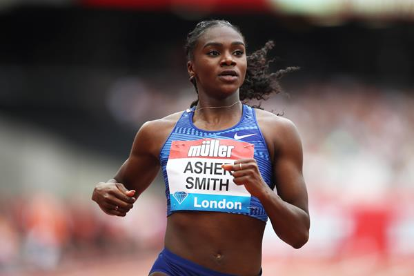 Dina Asher-Smith at the Diamond League meeting in London (Getty Images)