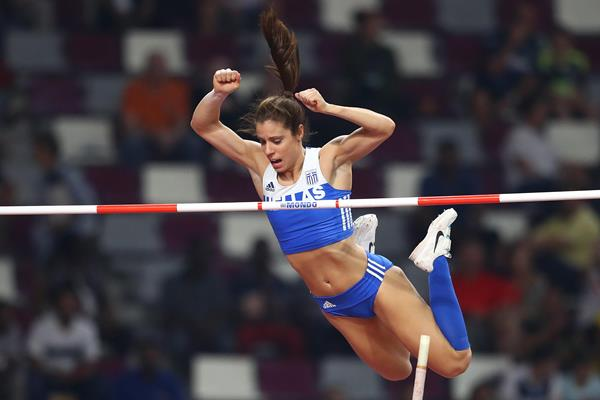 Katerina Stefanidi at the IAAF World Athletics Championships Doha 2019 (Getty Images)