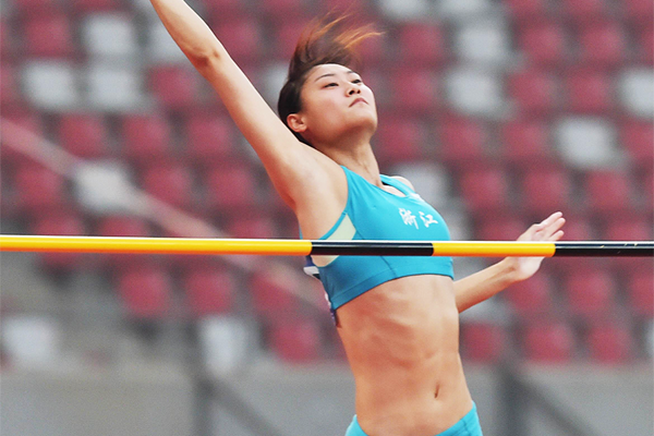 Li Ling at the 2015 Chinese Championships (Li Wen)