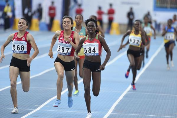 Winny Chebet takes a narrow 1500m win at the African Championships in Asaba (AFP/Getty Images)