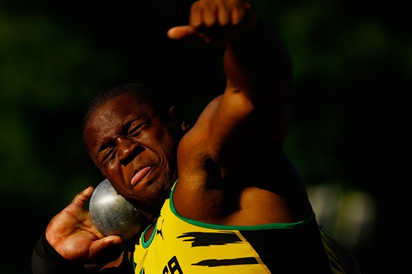 Shot put winner O'Dayne Richards at the Pan American Games (Getty Images)
