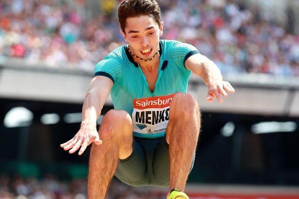 Aleksandr Menkov at the 2013 IAAF Diamond League in London (Victah Sailer)