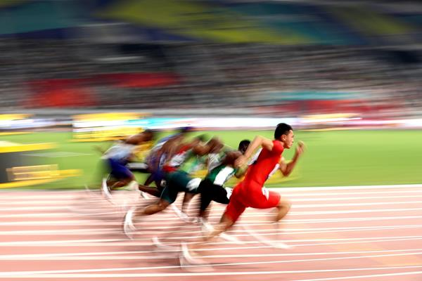 Start of the men's 100m heats at the IAAF World Athletics Championships Doha 2019 (Getty Images)