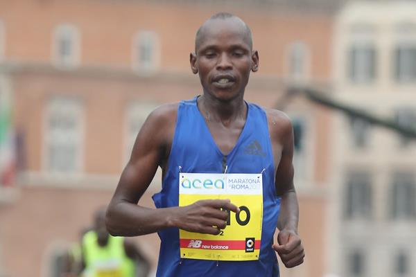 Dominic Ruto at the 2017 Rome Marathon (Giancarlo Colombo)