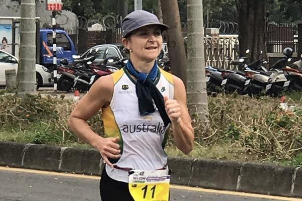 Nikki Wynd of Australia en route to the 2016 IAU 24-Hour Asia and Oceania Championships title (Frank Kuo and Samantha Wang)
