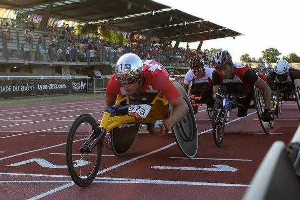 Hug wins 10000m T54 title at the  IPC Athletics World Championships ( IPC Athletics World Championships Lyon 2013)
